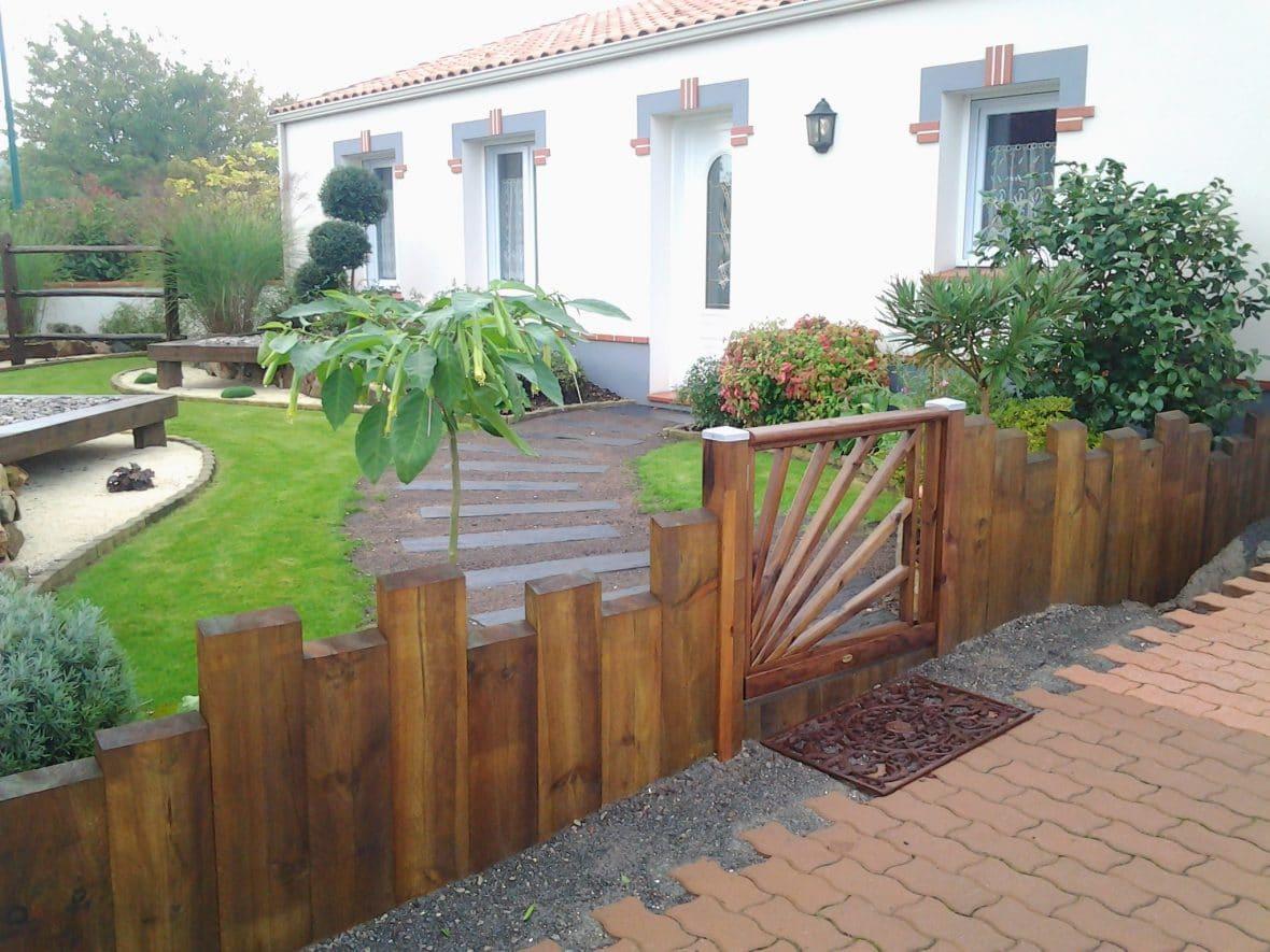 Cl ture et portail vent des jardins for Cloture et portail bois